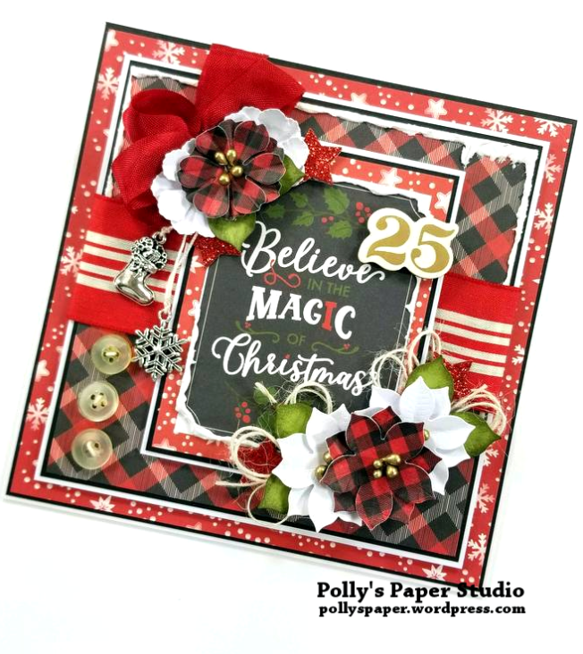 Believe in the Magic Christmas Greeting Card Polly's Paper Studio 02