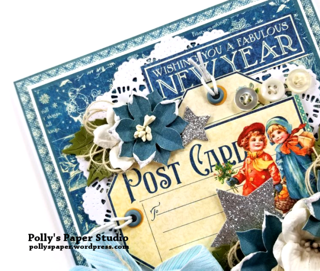 New Years Greeting Card One Polly's Paper Studio 04