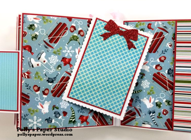 Peppermint Candy Christmas Mini Album Polly's Paper Studio 010