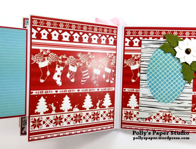 Peppermint Candy Christmas Mini Album Polly's Paper Studio 08