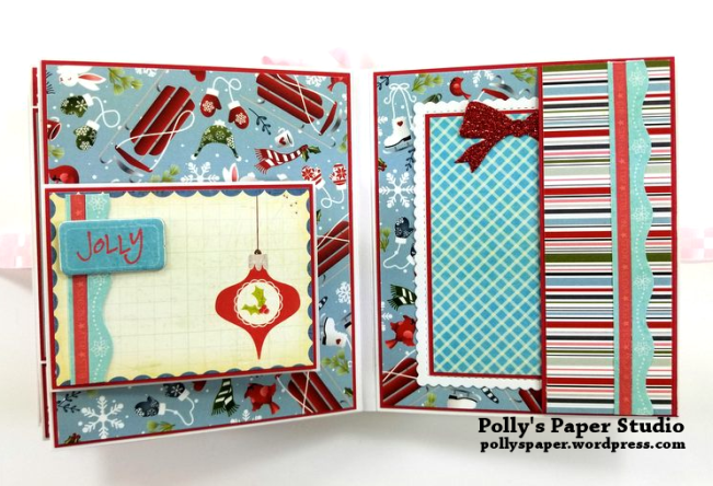 Peppermint Candy Christmas Mini Album Polly's Paper Studio 09
