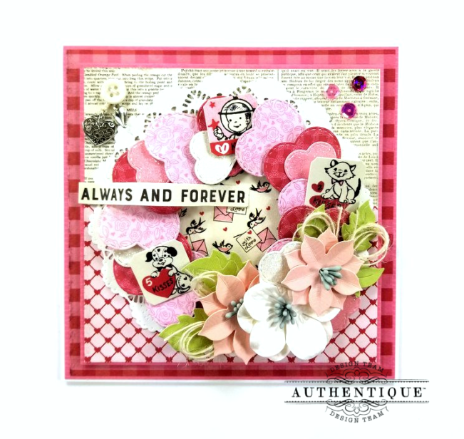 Always and Forever Valentine's Greeting Card Polly's Paper Studio 01