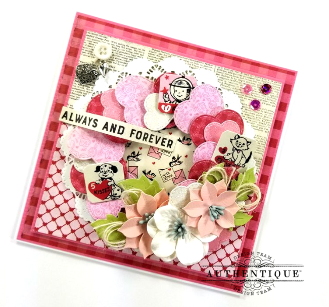 Always and Forever Valentine's Greeting Card Polly's Paper Studio 02