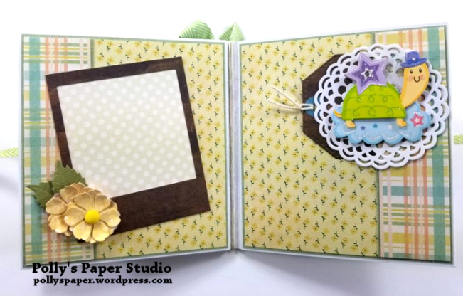 Baby Mini Album Scrapbook Polly's Paper Studio 03