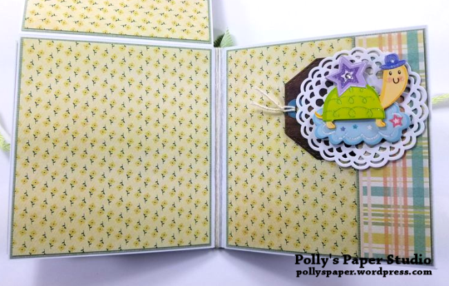 Baby Mini Album Scrapbook Polly's Paper Studio 04
