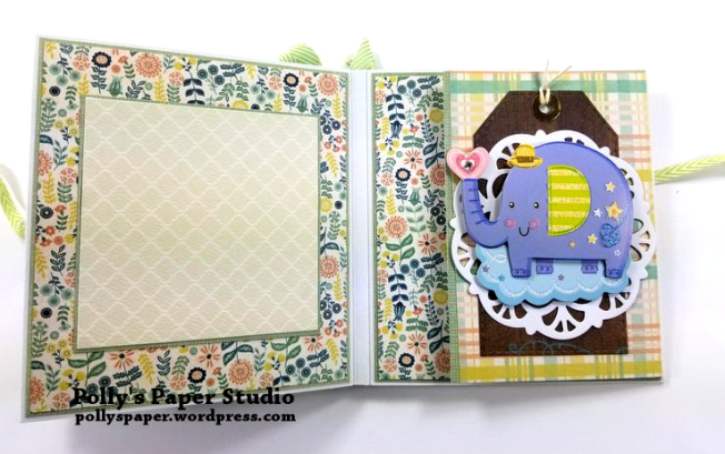 Baby Mini Album Scrapbook Polly's Paper Studio 05