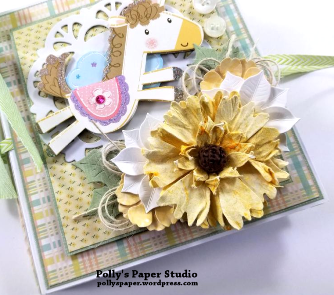 Baby Mini Album Scrapbook Polly's Paper Studio 07