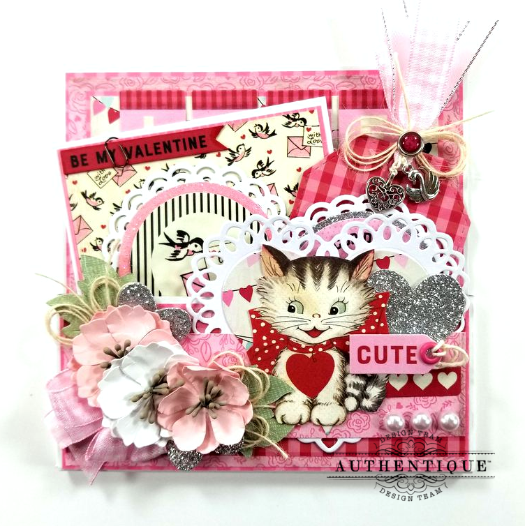 Be My Valentine Pocket With Tags Polly's Paper Studio 01