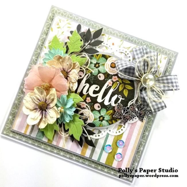Hello Greeting Card Polly's paper Studio 01