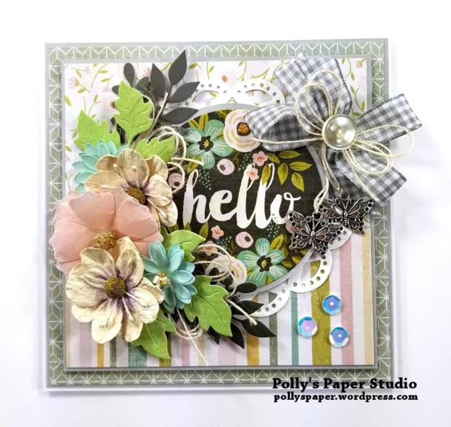 Hello Greeting Card Polly's paper Studio 02