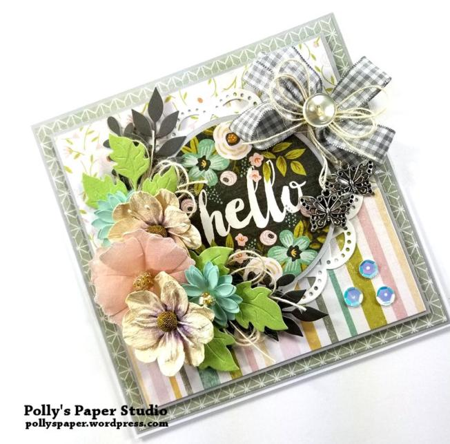Hello Greeting Card Polly's paper Studio 03