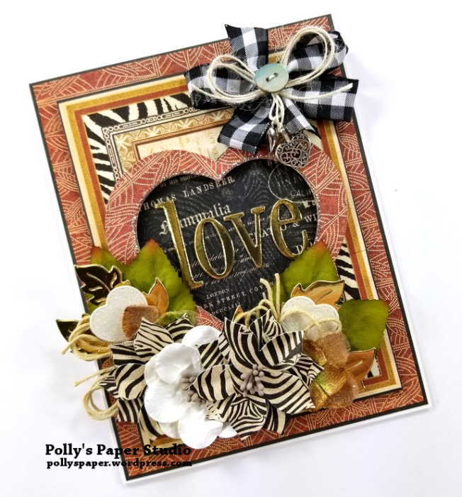 Valentine's Card Safari Themed Polly's Paper Studio 03