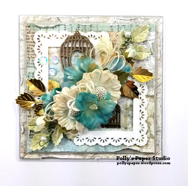 Birdcage Frames Greeting Card Polly's Paper Studio 01
