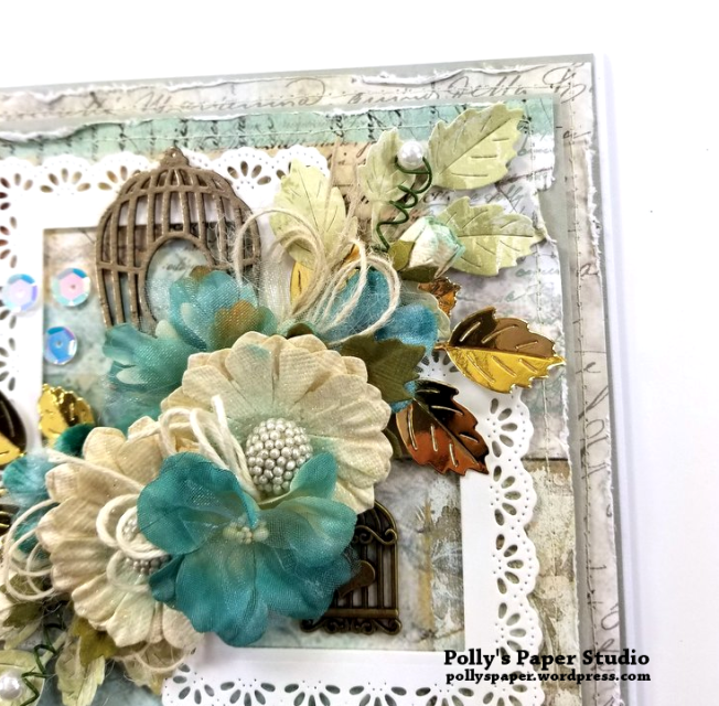 Birdcage Frames Greeting Card Polly's Paper Studio 05