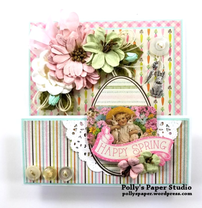 Happy Spring Easter Greeting Card Polly's Paper Studio 01