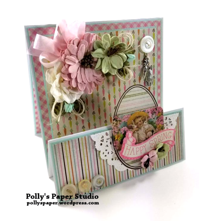 Happy Spring Easter Greeting Card Polly's Paper Studio 05