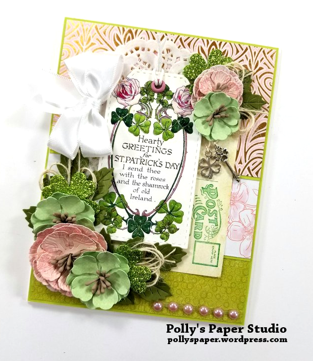 Hearty Greetings St Patrick's Day Card Polly's Paper Studio 02