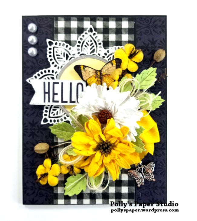 Hello Butterfly Greeting Card Polly's Paper Studio 01