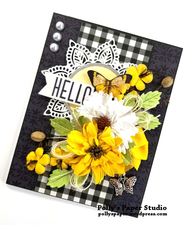 Hello Butterfly Greeting Card Polly's Paper Studio 02