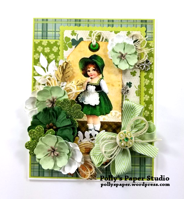 Irish Charm Greeting Card Polly's Paper Studio 01