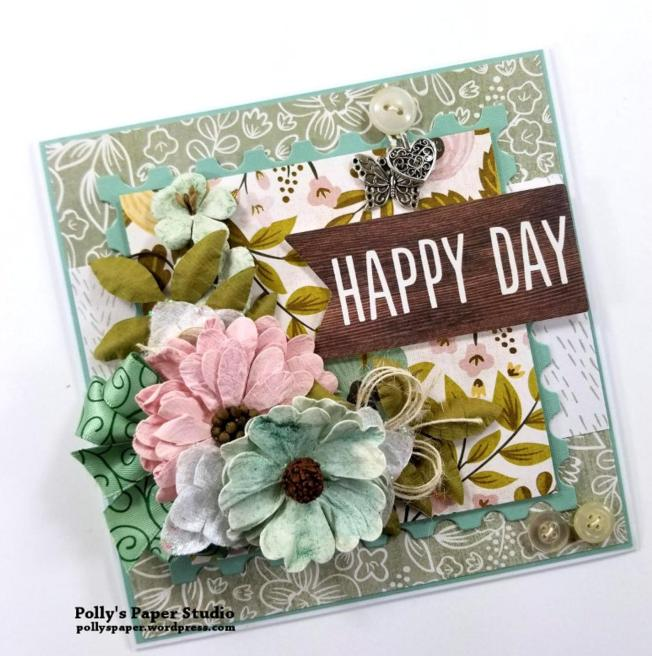 Happy Day All Occasion Greeting Card Polly's Paper Studio 01