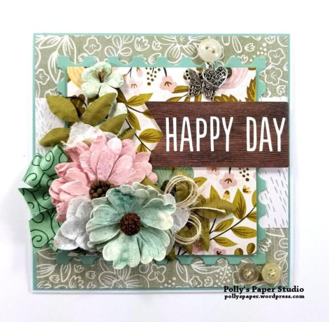 Happy Day All Occasion Greeting Card Polly's Paper Studio 02