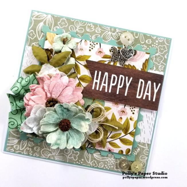 Happy Day All Occasion Greeting Card Polly's Paper Studio 03