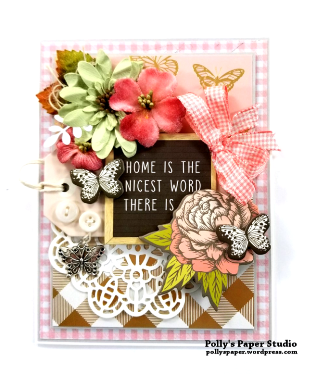 Home is the Nicest Word All Occasion Greeting Card Polly's Paper Studio 02