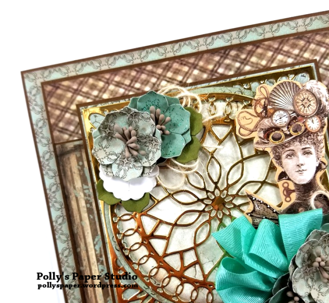 Steampunk Vintage Lady Greeting Card Polly's Paper Studio 05