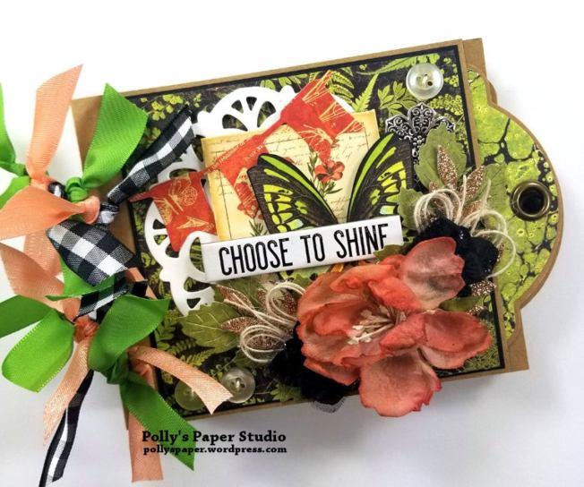 Choose to Shine MIni Tag Album Polly's Paper Studio 01
