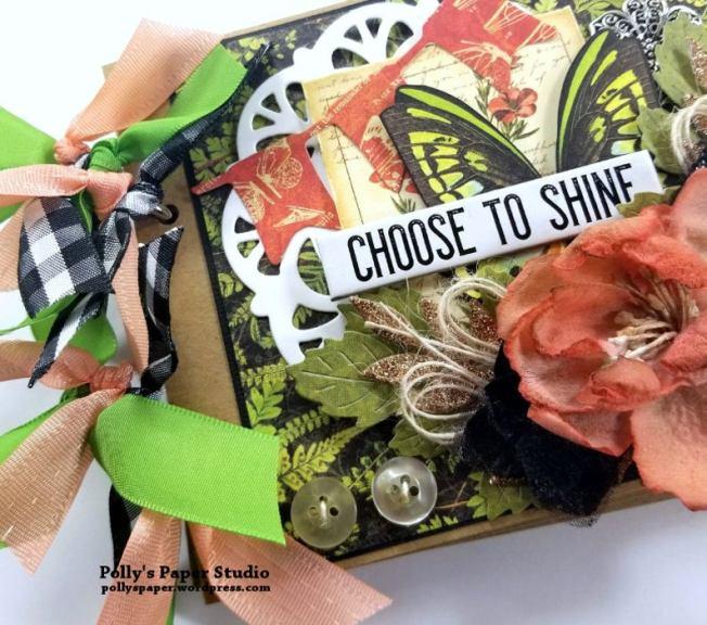 Choose to Shine MIni Tag Album Polly's Paper Studio 02