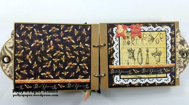 Choose to Shine MIni Tag Album Polly's Paper Studio 04