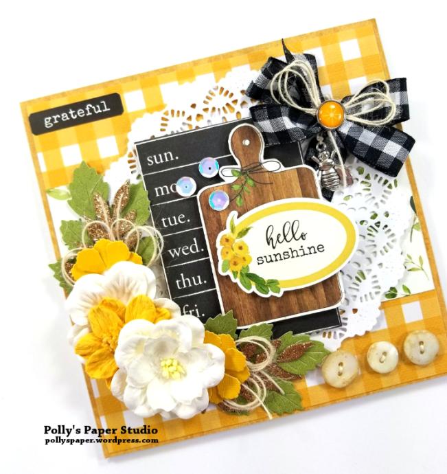 Hello Sunshine Greeting Card Polly's Paper Studio 03