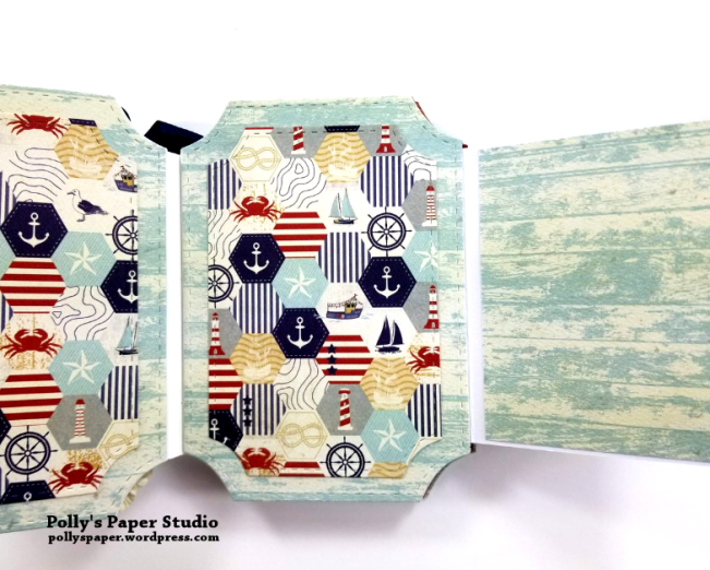 Let Your Dreams Set Sail Mini Album Scrapbook Polly's Paper Studio 04