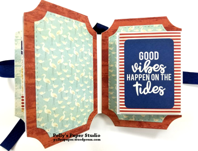Let Your Dreams Set Sail Mini Album Scrapbook Polly's Paper Studio 05