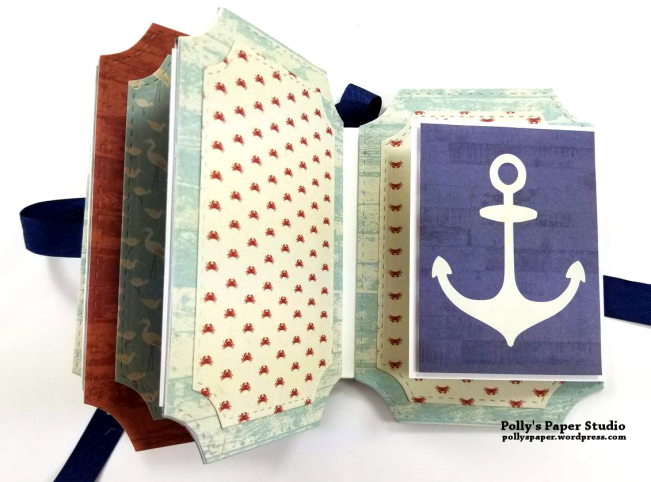 Let Your Dreams Set Sail Mini Album Scrapbook Polly's Paper Studio 06