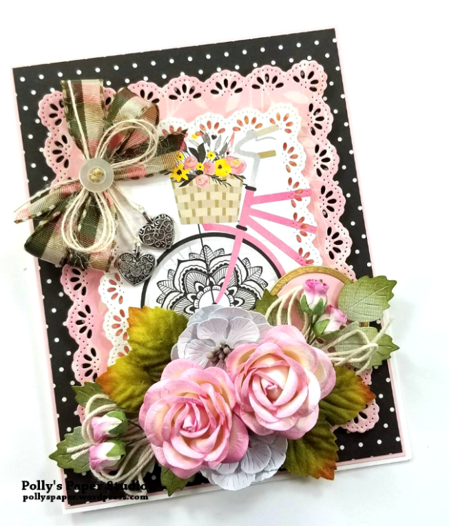 Pretty Pink Bicycle Greeting Card Polly's Paper Studio 03