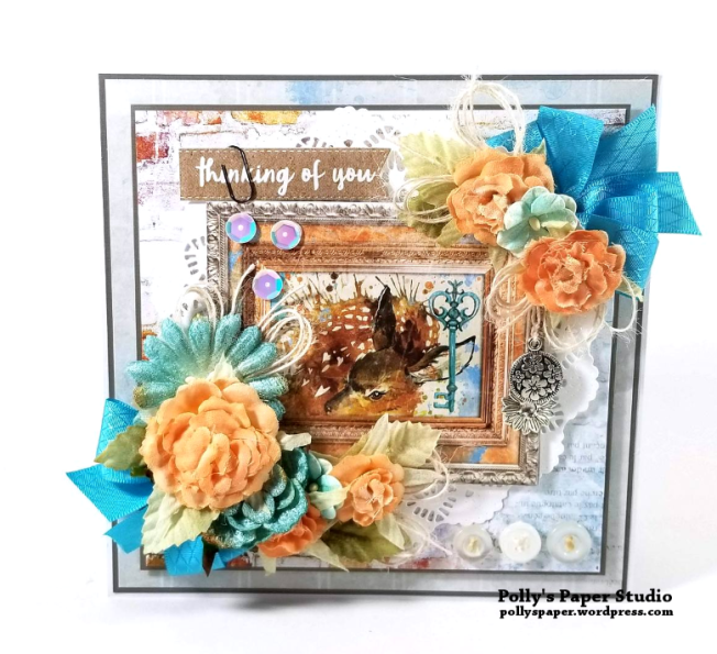 Thinking Of You Fawn Greeting Card Polly's Paper Studio 04