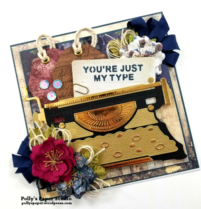 You're Just My Type All Occasion Greeting Card Polly's Paper Studio 03