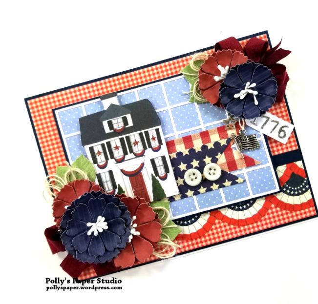1776 Americana Patriotic Greeting Card Polly's Paper Studio 03