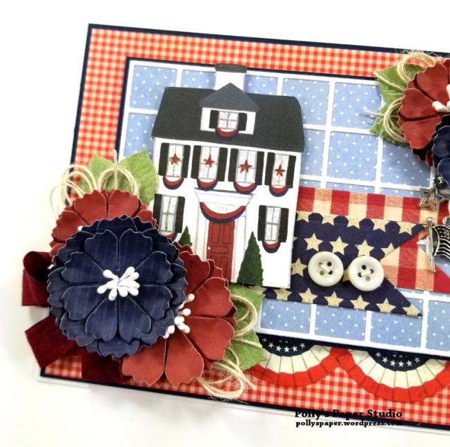 1776 Americana Patriotic Greeting Card Polly's Paper Studio 04