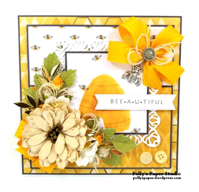 Beeutiful Greeting Card Polly's Paper Studio 01