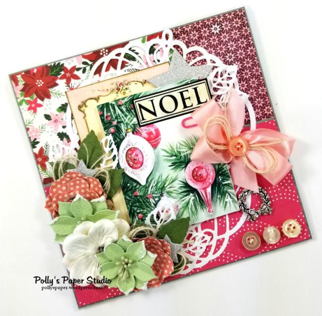 Noel Christmas Greeting Card Polly's Paper Studio 02